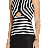Alexander Wang Cutout stretch cotton-blend top – 50% at THE OUTNET.COM