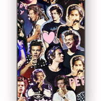harry styles collage one direction for iPhone 4/4S Case **