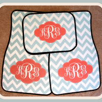 Gift Ideas Car Accessories Monogrammed Car Mat Front and Back Car Mats Personalized Car Mats Monogrammed Car Mats