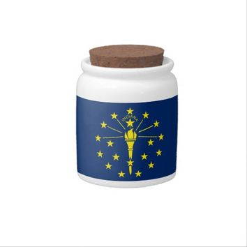 Indiana State Flag Candy Jar