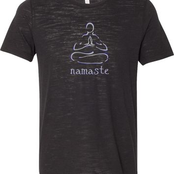 Yoga T-shirt Namaste Lotus Pose Burnout Tee