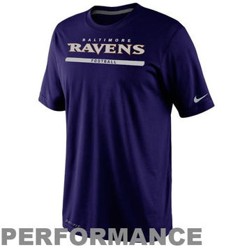 Nike Baltimore Ravens  Dri-FIT Legend Elite Font Sideline Performance T-Shirt - Purple