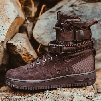 spbest Nike Air Force 1 SF1 High Velvet Brown