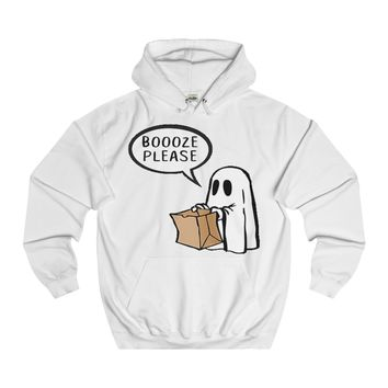 Boooze Please Trick or Treat Halloween Hoodie