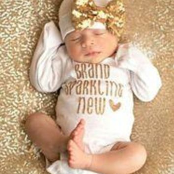 BRAND SPARKLING NEW NEWBORN SET, BABY GIRL OUTFIT