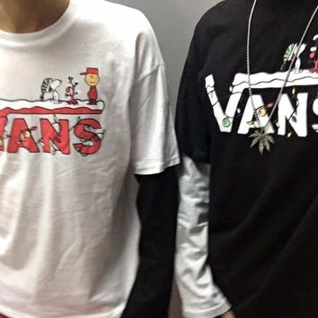 HCXX 19Sep 642 Vans x Snoopy Cotton Oversize Long Sleeved T-shirt