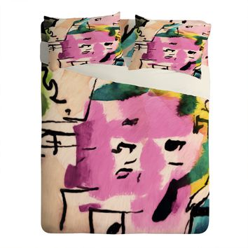 Ginette Fine Art Pink Twink Abstract Sheet Set Lightweight