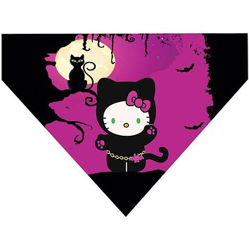 Halloween Over the Collar Dog Bandana - Hello Kitty Cat Costume