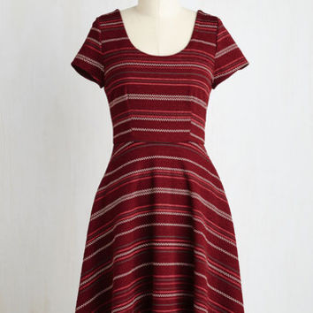 Mid-length Cap Sleeves Fit & Flare My Party Words Dress