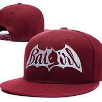 XINMEN Batgirl Logo Adjustable Snapback Caps Embroidery Hats - Red