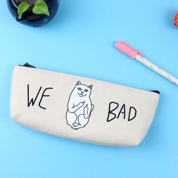 We Bad Cat Pencil Case