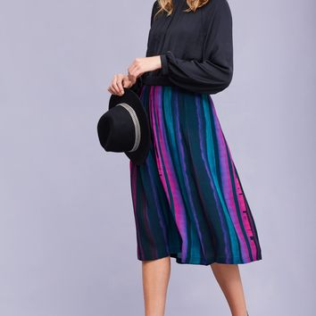 Abigail Pleated Midi Skirt, Purple