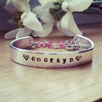 Baby/Child/Toddler bracelet Keepsake- Personalized with name,  saying, date: up to 15 characters* Say what you want