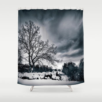 Cold winds.. Shower Curtain by HappyMelvin