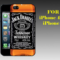 Jack Daniels Whiskey - Print on Hard Cover iPhone 5 Black Case - iPhone 4/4s Case - Please Leave a Note For the Type Case and Color Case