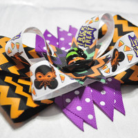 Disney Mickey mouse Halloween layered boutique bow on crochet headband