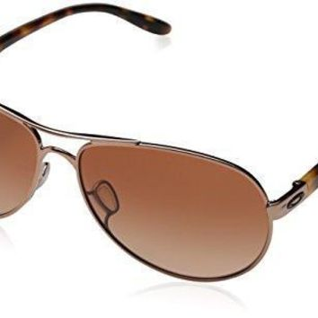 Oakley Women's Feedback OO4079 Aviator Sunglasses