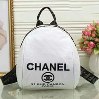 DCCKN6V Chanel  Women Casual Shoulder School Bag Cowhide Leather Backpack G-LLBPFSH