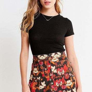 BDG Uncut Corduroy Button-Front Skirt | Urban Outfitters