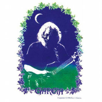 Jerry Garcia - Rose Border - Decal