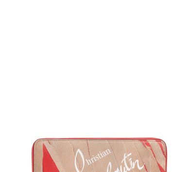 Christian Louboutin Panettone Print Leather Wallet | Nordstrom