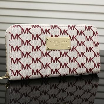 MK 2017 Pure elegant leather printing wallet purse bag [53089140748]