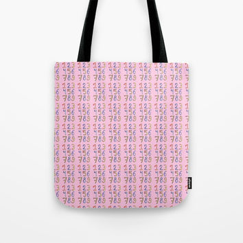 number 2- count,math,arithmetic,calculation,digit,numerical,child,school Tote Bag by oldking