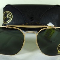 Ray-Ban Men's Gold Blue Gradient General Square Sunglasses RB3561