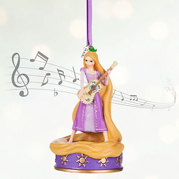 Disney Store 2016 Rapunzel Singing Sketchbook Christmas Ornament New With Tags