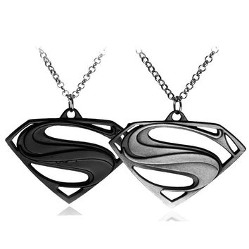 Free shipping Superman Pendants Necklaces For Men And Women,High Quality Zinc alloy Jewelry