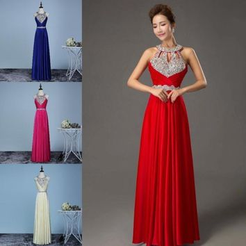 9 Color S-XXXL New Popular Floor-Length Satin Sexy Formal Prom Party Gowns Womens Evening Dress Wedding Dresses Elegant Long Dre