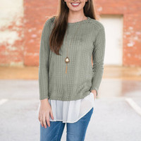 Another Frilly Love Song Sweater, Olive