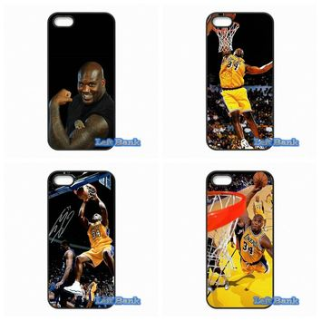 NBA Star Shaquille O'Neal Phone Cases Cover For Samsung Galaxy Note 2 3 4 5 7 S S2 S3 S4 S5 MINI S6 S7 edge