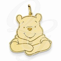 Gold-Plated SS Disney Winnie The Pooh Charm