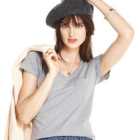 Maison Jules Top, Short-Sleeve V-Neck Tee