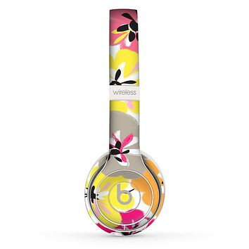 The Bright Summer Brushed Flowers  Skin Set for the Beats by Dre Solo 2 Wireless Headphones