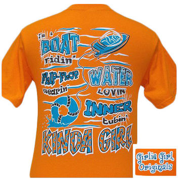 Girlie Girl Originals Flip Flop Wearin Water Lovin Kind Girl Bright T Shirt