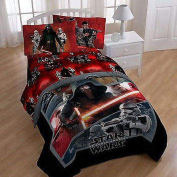Star Wars Episode 7 Twin Comforter and Sheet Set FREE 2ND DAY AIR