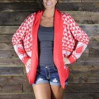 The Sweetest Thing Cardigan - Coral