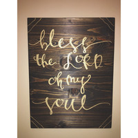Hand Lettered Wood Sign