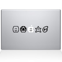 Mario Bros Power Ups Macbook Decal | The Decal Guru