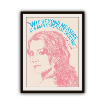 Luna Lovegood Harry Potter Typography Poster Print
