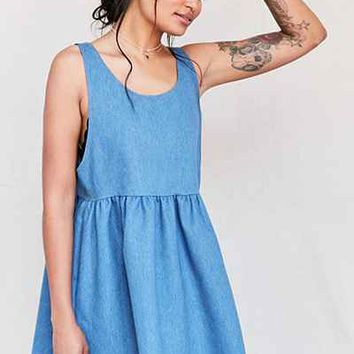 Urban Renewal Recycled Denim Babydoll Dress - Urban Outfitters