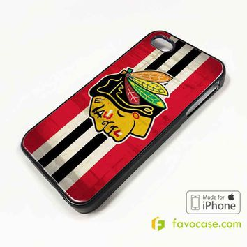 CHICAGO BLACKHAWKS Ice Hockey Team NHL iPhone 4/4S 5/5S/SE 5C 6/6S 7 8 Plus X Case Cover