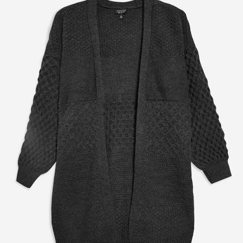Honeycomb Sleeve Cardigan