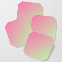 Two Tone Pink Coaster by kasseggs