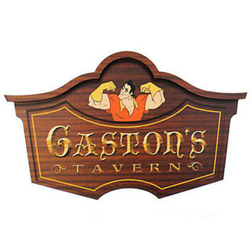Disney Parks Gaston's Tavern Wall Sign Walt Disney World new