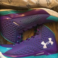 Under Armour Curry 1 Father to Son Hornets 1258723-478 Men Size US 12 NEW