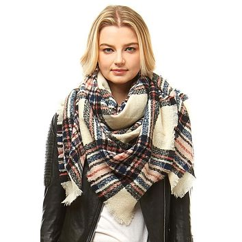 The Plaid Square Blanket Scarf