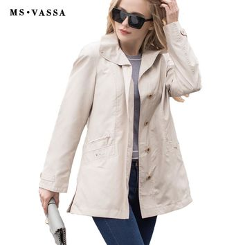 Women Jacket Spring Autumn Fashion Basic Coat Casual Ladies Jacket Turn Down Collar Outerwear